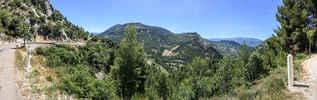 Montée : Col d'Ey depuis Buis les Baronnies, Commentaire : Panorama, à mi-pente... somptueux !