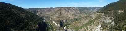 Montée : Col de Coperlac depuis Sainte Enimie, Commentaire : Le point de vue, 800m avant le col