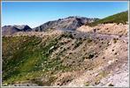 Montée : Cime de la Bonette depuis Saint Etienne de Tinee, Commentaire : les derniers kilometres de la Bonette par St Etienne de Tinee sont tres difficiles. le sommet est en vue.