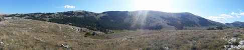 Montée : Col de l'ecre depuis Pont du Loup, Commentaire : plateau de caussols (ou claps)