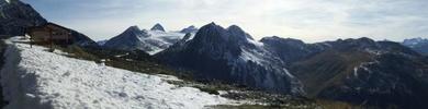Auteur : Loic L, Commentaire : panorama au sommet du nufenen côté Valaisan