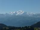 Auteur : David D, Commentaire : vue sur le Mont Blanc depuis le col de la Ramaz.