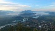 Montée : Col du Grand Colombier depuis Culoz, Commentaire : Culoz vu de la montée le 18 septembre 2012 à 8 H du matin.