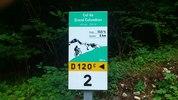 Montée : Col du Grand Colombier depuis Culoz, Commentaire : 18 septembre 2012 : dans la descente vers Virieu-le-Petit. Heureusement que je vais dans l'autre sens !