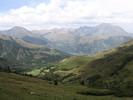 Auteur : Benoît G, Reactie : Panorama au sommet du Col d'Azet, en regardant vers l'Ouest. En face, la montée du Pla d'Adet