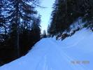 Montée : Col d'Allos depuis Barcelonnette, Commentaire : km 9. Plus facile en ski qu'en vélo à cette période!!!