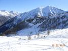Montée : Col d'Allos depuis Barcelonnette, Commentaire : On aperçoit la route du col d'Allos en contre-bas, 5 km avant le sommet. C'est la partie la plus dure-même sans la neige ;-)