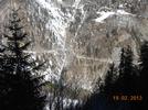 Montée : Col d'Allos depuis Barcelonnette, Commentaire : En contre-bas c'est la partie quasi plate au km 6. Portion de route ouverte même en hiver jusqu'aux Agneliers.