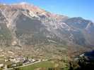 Auteur : Loic L, Commentaire : le village de Bersezio depuis la route de Ferrières.