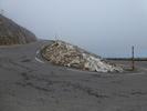 Montée : Mont Ventoux depuis Malaucene, Commentaire : avant-dernier virage, avec rafales à 100km/h et plus ...