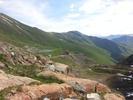Montée : Col de la Croix de Fer depuis Saint Jean de Maurienne, Commentaire : Vue du sommet sur la montee