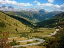 Montée : Passo Pordoi depuis Arabba, Commentaire : Montée vers le Passo Pordoï depuis Arabba