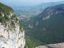 Montée : Col de la Machine depuis Saint Jean en Royans, Commentaire : Vue vers la vallée de l'Isère depuis la combe Laval