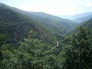 Auteur : Greg R, Commentaire : Vue de la route du col de Creu en descendant depuis le col de la Llose.