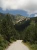 Montée : La Preste depuis Prats de Mollo, Commentaire : Vue sur la collade des roques blanches en montant depuis la Preste