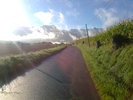 Montée : Col du Soulor depuis Ferrières, Commentaire : Au petit matin, départ d'Asson avec le Soulour droit devant ... quel pied.
