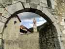Montée : Col d'Allos depuis Colmars, Commentaire : Entrée sud du village de Colmars.