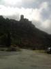 Montée : Château de Queribus depuis Maury, Commentaire : Vue sur le château depuis le parking (fin de la route goudronnée)