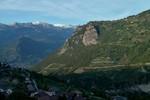 Auteur : Loic L, Commentaire : la magnifique vigne de Bramois ainsi que le village 'perché', Nax au dessus.