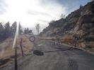 Montée : Mine de la Batere depuis Arles sur Tech, Commentaire : Route barrée! (mais à vélo c'est pas grave)