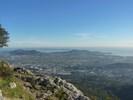 Montée : Mont Coudon depuis La Valette du Var, Commentaire : La Valette du Var, Carqueiranne et la Presqu'île de Giens