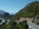 Author : Loic L, Comment : les premiers mètres sont raides ! A droite du Rhône, c'est la route d'Italie qui part sur Sion. ( voir Crans)