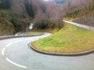 Montée : Col de Montségur depuis Belesta, Commentaire : Les beaux lacets, qui rappellent le col de Menté