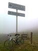 Montée : Col de Montségur depuis Belesta, Commentaire : 26 Janvier 2014, pas trop froid mais vibilité nulle...