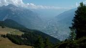 Auteur : Loic L, Commentaire : au centre, le Rhône qui arrive de très loin... tout au bout de cette merveilleuse vallée, le Furka pass.