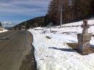 Montée : Col des Sept Frères depuis Belcaire, Commentaire : Route bien dégagée, de la neige au bord: une super météo d'un 2 mars 2013