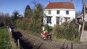 Climb : Molenberg from Sint Denis Boekel, Comment : Partie du bas du Molenberg, lors du Het Nieuwsblad 2014.