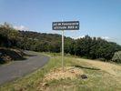 Montée : Col de Fontcouverte depuis Thuir, Commentaire : Le panneau du col, tout juste installé