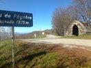 Montée : Col de Péguère depuis La Mouline, Commentaire : Avec la superbe cabane de pierre (refuge s'il pleut!)