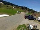 Montée : Col de Port depuis Massat, Commentaire : départ de rando. Il reste un peu de neige. Vue vers Massat.