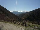 Montée : Col de Portus depuis Olette, Commentaire : Vue vers la chaîne des Pyrénées au Sud (dos à la montée).