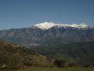 Montée : Col de Portus depuis Jujols, Commentaire : Vue sur le massif du Canigou
