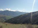 Montée : Col de Portus depuis Jujols, Commentaire : Vue sur le massif des pyrénées