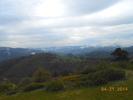 Montée : Col de Brun depuis Labatie d'Andaure, Commentaire : Pas très beau ce jour là....mais par beau temps on aperçoit au fond plein Est, le Vercors.