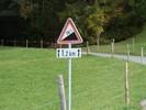 Author : Loic L, Comment : Après seulement 500 mètres parcourus, Fromatt envoie l'artillerie lourde !  N'ayez crainte, comme tous les panneaux (français y compris) les pourcentages sont légèrement gonflés...