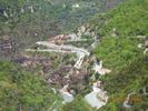 Montée : Col Saint-Martin depuis D2205, Commentaire : L'épingle à cheveux correspond au départ de la grimpée. Les roches rouges sont surprenantes.