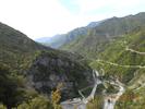 Montée : Col Saint-Martin depuis D2205, Commentaire : Vallée de la Tinée en descendant vers Nice