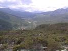 Montée : Col de Bigorno depuis Volpajola, Commentaire : Vallée du Golo et les aiguilles de Popolasca..