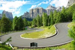 Montée : Passo Pordoi depuis Canazei
