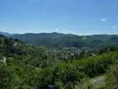 Montée : Col des Mourèzes depuis Le Vigan, Commentaire : Vue sur le Vigan