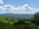 Montée : Col de la Lusette depuis Le Vigan, Commentaire : Vue vers le Sud des Cévennes dans la montée de la Lusette, avant le Cap de Côte