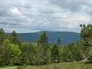 Montée : Col de la Lusette depuis Le Vigan, Commentaire : Au sommet de la Lusette, en regardant vers le Mont Aigoual