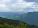 Montée : Mont Aigoual depuis Le Vigan (via le Col de la Lusette), Commentaire : Le Pic Saint-Loup entre deux averses, depuis le sommet de l'Aigoual