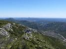 Montée : Mont Saint-Baudille depuis Arboras, Commentaire : Vue vers Montpellier et la Camargue depuis le Mont St-Baudille