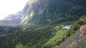 Montée : Col Mitja depuis Fontpédrouse, Commentaire : La vallée de la Riberola, vers Nou Fonts.