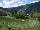 Montée : Col Mitja depuis Fontpédrouse, Commentaire : Village de Prats-Ballaguer et vallée de la Têt
